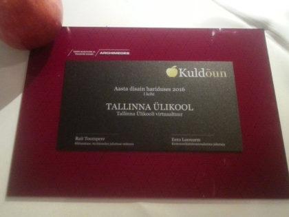 """Tallinna Ülikooli virtuaaltuur pälvis esikoha ja tiitli """"Aasta disain hariduses"""""""